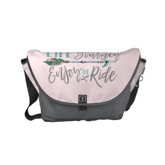 Life is a Journey Enjoy the Ride Boho Wanderlust Courier Bags