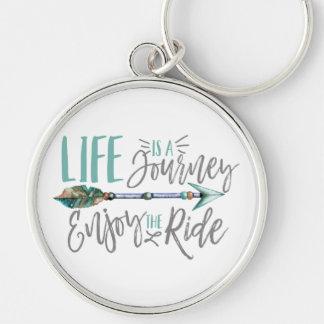 Life is a Journey Enjoy the Ride Boho Wanderlust Key Ring