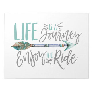 Life is a Journey Enjoy the Ride Boho Wanderlust Notepad