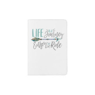 Life is a Journey Enjoy the Ride Boho Wanderlust Passport Holder