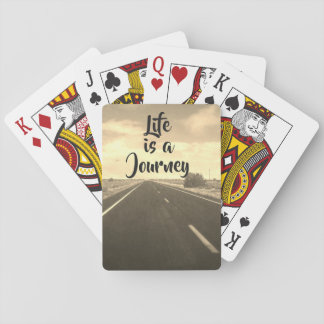 Life is a journey - playing cards