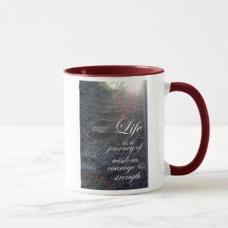 Life is a Journey quote inspirational coffee cup