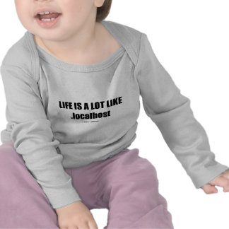 Life Is A Lot Like localhost Computer IT Humor T Shirts