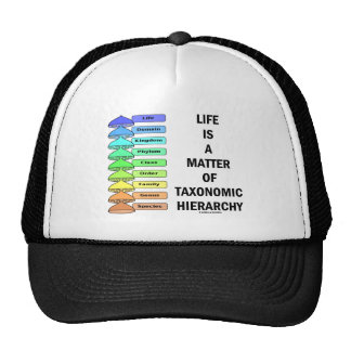 Life Is A Matter Of Taxonomic Hierarchy (Biology) Mesh Hats