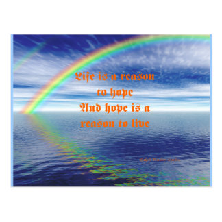 Life is a reson to hope postcard
