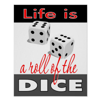 Life is a Roll of the Dice 16x20 Poster