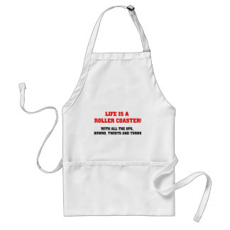 Life is a Roller Coaster Standard Apron