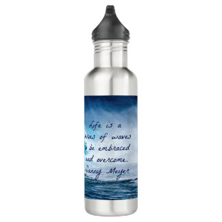 Life is a series of waves 710 ml water bottle