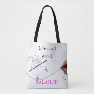 LIfe is all about balance|| Doodle Tote Bag