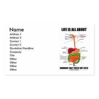 Life Is All About Showing That You ve Got Guts Business Card