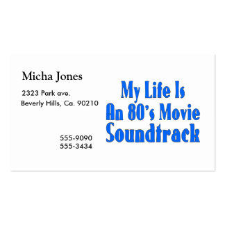 Life Is An 80's Movie Soundtrack Double-Sided Standard Business Cards (Pack Of 100)