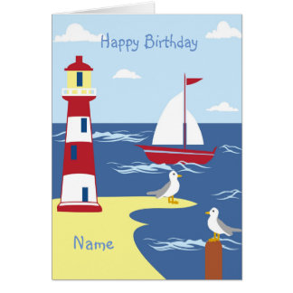 Life Is An Adventure Nautical BOY Godson Gift Card
