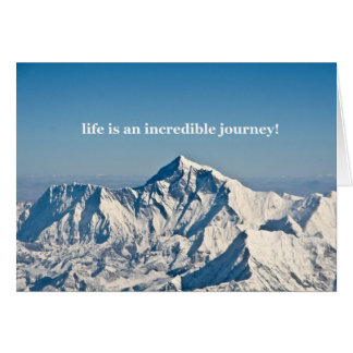 life is an incredible journey card
