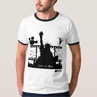 Life is Art Men's Ringer T-shirt