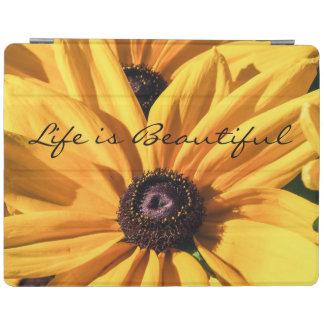 Life is Beautiful Black Eyed Susan iPad Cover
