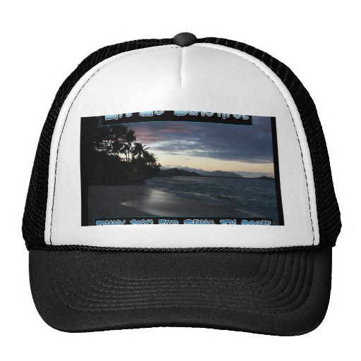 Life Is Beautiful Mesh Hats