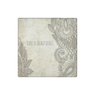 """Life is Beautiful"" inspiring magnet, uplifting! Stone Magnet"
