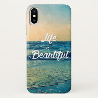 Life is beautiful iPhone x case