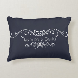 Life Is Beautiful - La Vita é Bella Pillow. Decorative Cushion