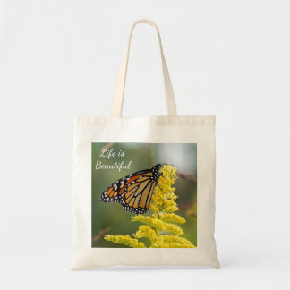 Life is Beautiful Monarch Butterfly Budget Tote