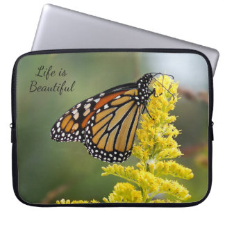 Life is Beautiful Monarch Neoprene Laptop Sleeve