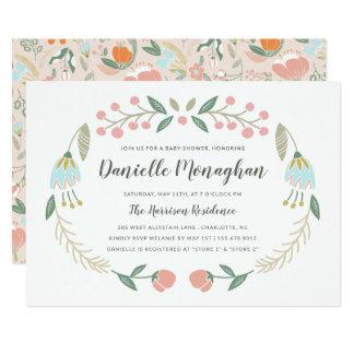 Life is Beautiful | Oval Wreath Invitation