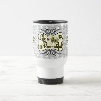 Life is Bee-utiful Travel Mug (Gray)