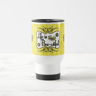 Life is Bee-utiful Travel Mug (Yellow)