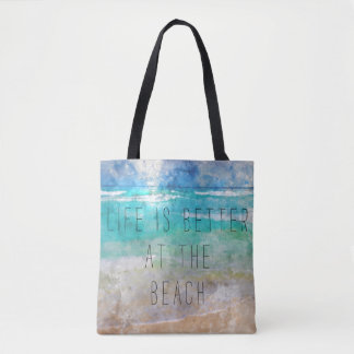 Life is Better at the Beach Canvas Bag