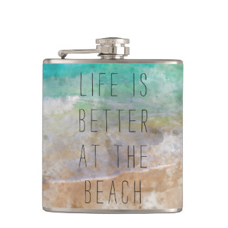 Life is Better at the Beach Gift Flask