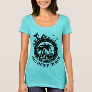 Life is Better at the Beach or Personalized Quote T-Shirt