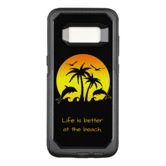Life is Better at the Beach OtterBox Commuter Samsung Galaxy S8 Case