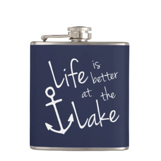 LIFE IS BETTER AT THE LAKE HIP FLASK
