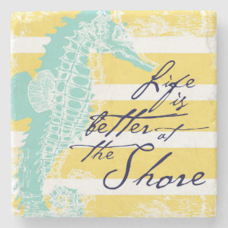 Life is Better at the Shore Stone Coaster