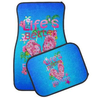 Life Is Better In Flip Flops Car Mat