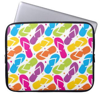 Life is Better in Flip Flops Pattern Laptop Sleeve