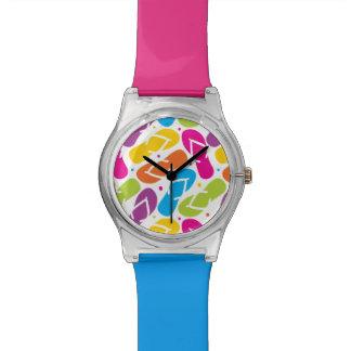 Life is Better in Flip Flops Pattern Wrist Watches
