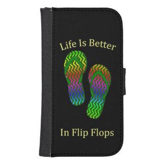 Life Is Better In Flip Flops Samsung S4 Wallet Case