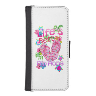 Life Is Better In Flip Flops iPhone 5 Wallet Cases
