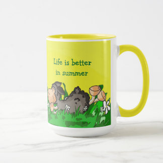 Life is better in summer mug