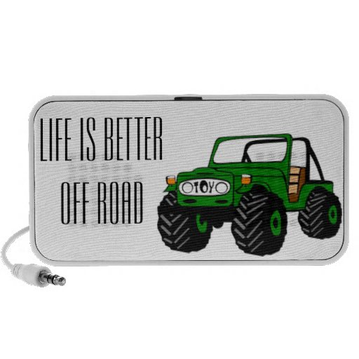 Life is Better Off Road Notebook Speakers