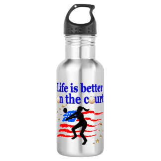 LIFE IS BETTER ON THE COURT USA VOLLEYBALL DESIGN 532 ML WATER BOTTLE