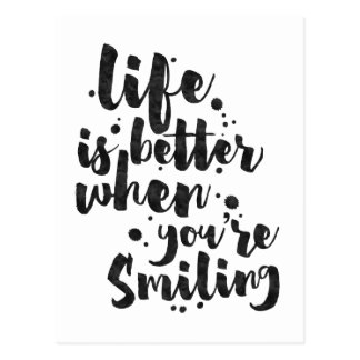 Life Is Better When Smiling - Inspirational Card