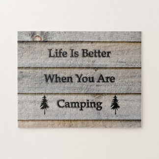 Life is better when you are camping jigsaw puzzle