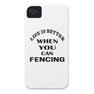 Life Is Better When You Can Fencing iPhone 4 Case