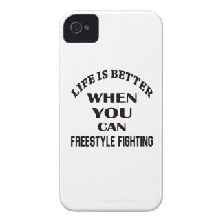 Life Is Better When You Can Freestyle Fighting iPhone 4 Case-Mate Case