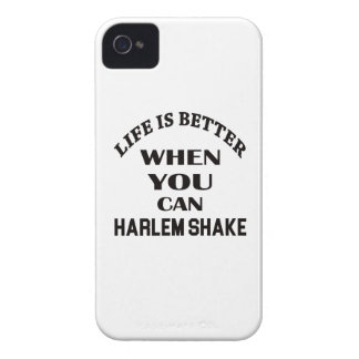 Life is better When you can Harlem Shake dance iPhone 4 Case-Mate Cases