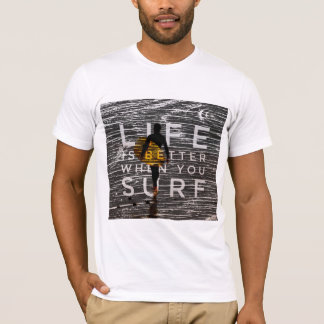 LIFE IS BETTER WHEN YOU SURF - Steel Grey T-Shirt