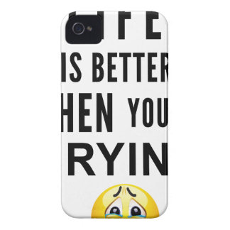 Life Is Better When You're Crying iPhone 4 Covers