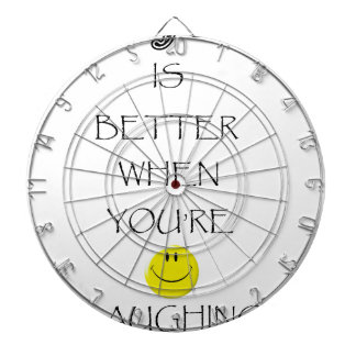 life is better when you're laughing dartboard